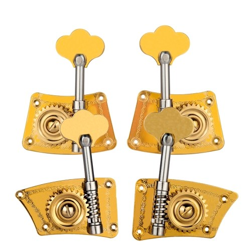 Double Bass Single Tuning Pegs Tuner Machine Heads 2 Left 2 Right for 4/4 3/4 Double Bass