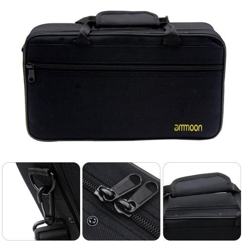 ammoon Clarinet Case Gig Bag Backpack Box