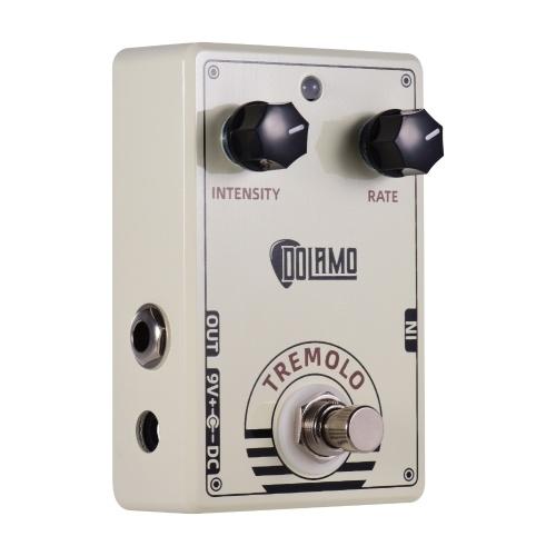 Dolamo D-13 Pédale d'effet de guitare Tremolo de Style Vintage avec commandes d'intensité et de fréquence True Bypass Design pour guitare électrique