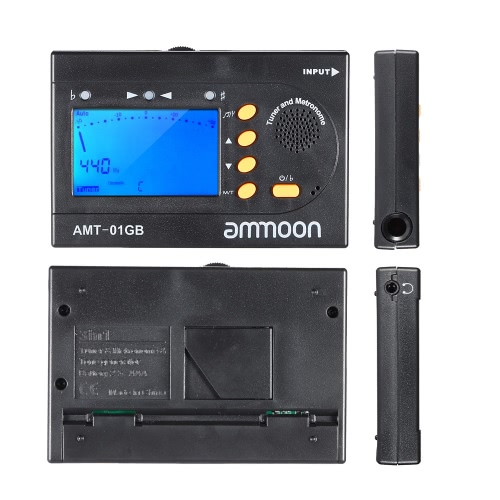 ammoon AMT-01GB Multifunctional 3in1 Digital Tuner + Metronome + Tone Generator Universal Portable for Chromatic Guitar Bass Violin