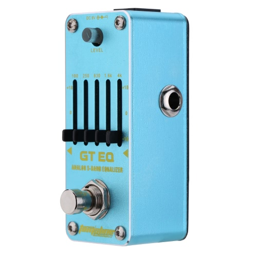 AROMA AEG-3 GT EQ Analog 5-Band Equalizer Electric Guitar Effect Pedal Mini Single Effect with True Bypass