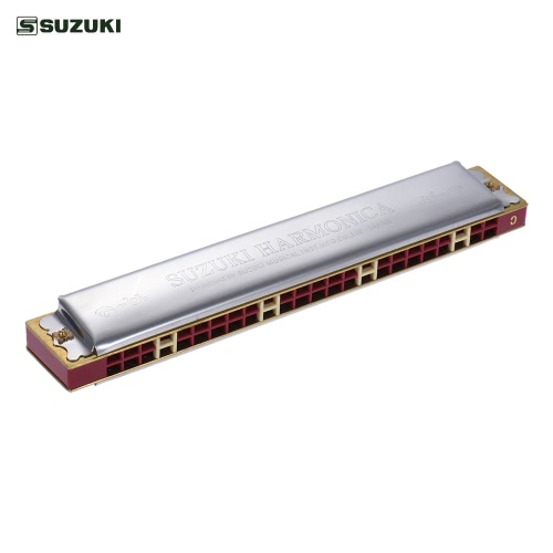 Suzuki Study-24 24 Otwory Harmonijka tremolo tonacji C z Ściereczka Box Musical Instrument dla początkujących Studenta