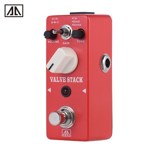 AROMA AVS-5 Classic Tube-driven Amplifier Simulation Distortion Guitar Effect Pedal 3 Modes Aluminum Alloy Body True Bypass
