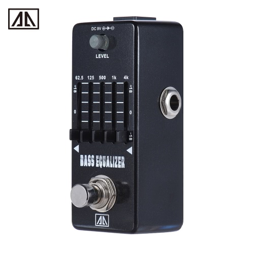 AROMA AEB-5 5-pasmowy korektor graficzny Korektor Bass Guitar pedał efektów stopu aluminium ciała True Bypass
