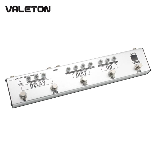 VALETON VES-1 DAPPER 4-in-1 Multi-Effects Strip Tuner Overdrive Distortion Tap Delay FX Loop Guitar Effect Pedal
