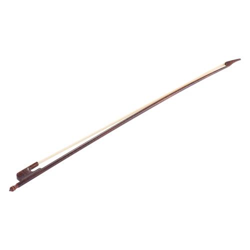 バランスのとれたバロック様式Snakewood 1/2チェロ弓馬毛ラウンドスティック対外キャンバー