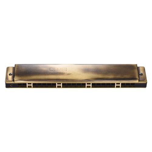 Qimei QM24A-14 24 Fori Armonica Tremolo Bocca Organo chiave di C prestazioni professionali con la scatola