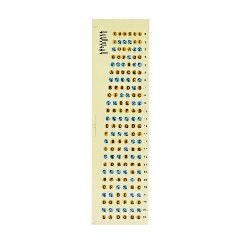 Griffbrett Griffbrett Bünde Hinweis Abziehbilder Kartenaufkleber 24 Bünde