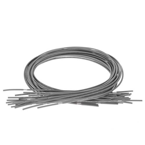 20pcs Ekranowany przewód Przewód Przewód Gitarowy Pojedynczy Dyrygent do Gitary elektrycznej 51cm / 20in Grey