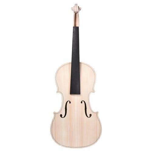 Fai da te 4/4 full size legno massello naturale acustico violino violino kit top in abete acero posteriore del collo tastiera in legno di ebano accessorio cordiera