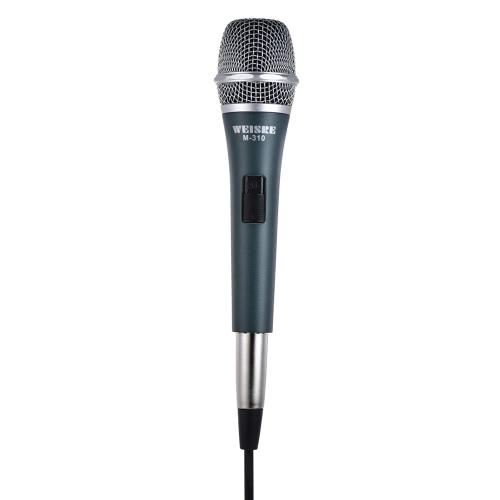 Profesional Dynamic Moving-coil Micrófono Portátil de Mano Cardioide con 13 pies XLR-a-1/4