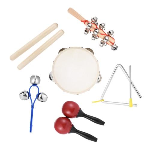 6szt Instrumenty Muzyczne Instrumenty Perkusyjne Zestawy Rytmów Zabawek