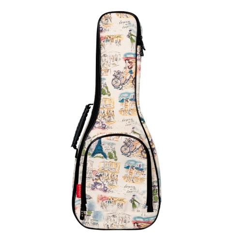 """ammoon 23 """"Concert Ukulele Ukulele Uke Tasche Rucksack Tasche 10mm Baumwolle Polsterung Durable Bunte mit Verstellbaren Schultergurt Tragegriff"""