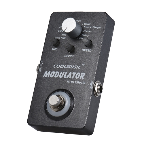 Electric Guitar Digital Modulator Effect Pedal with 11 Modulation Effects True Bypass Full Metal Shell