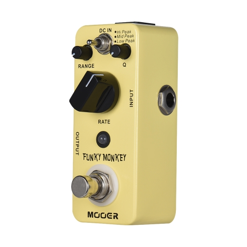 MOOER FUNKY MONKEY Auto Wah Guitar Effect Pedal 3 modos máximos True Bypass Full Metal Shell