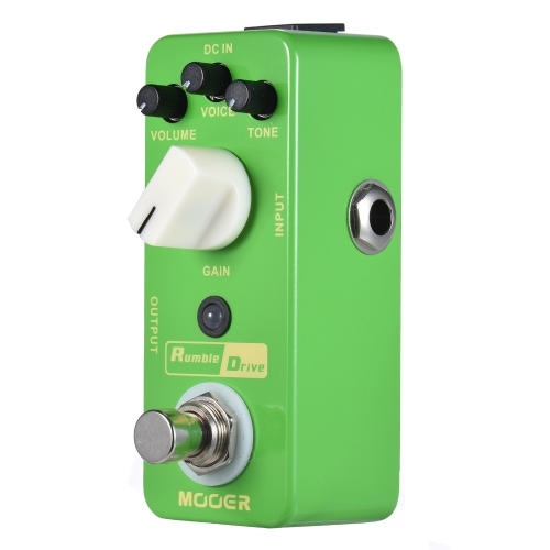 MOOER Rumble Drive Overdrive Guitar Effect Pedal True Bypass Full Metal Shell