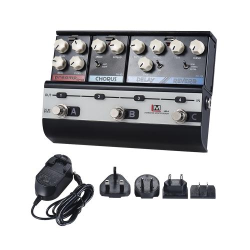 BIYANG LiveMaster Series LM-4メインフレームユニットブルーススタイルセット(3ギターエフェクトペダル付)