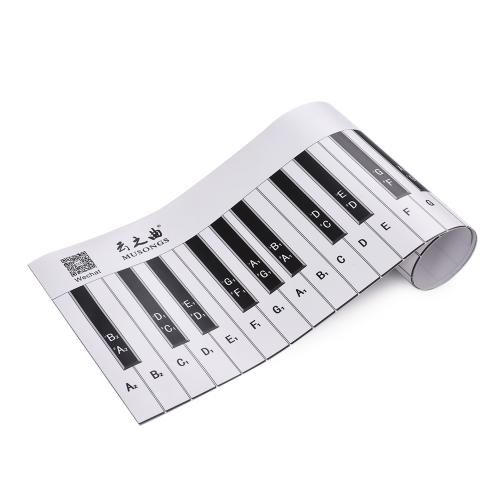 Длинная версия 88 Клавиши Клавиатура для фортепиано с фортепиано Клавиатура для рисования с записками и справочными пособиями Руководство по преподаванию фортепиано Вспомогательный инструмент для студентов Bebinners Kids фото