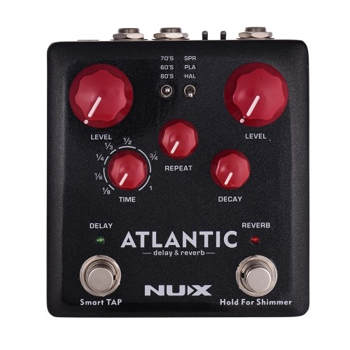 NUX ATLANTIC Delay & Reverb Guitar Effect Pedal I4033