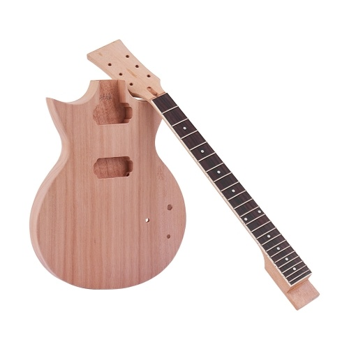 Muslady Unfinished DIY Electric Guitar Kit