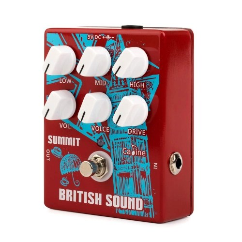 Caline CP-58 British Sound Cabinet Simulazione Distorsione Effetti a pedale Effetti a pedale 3-Band EQ In lega di alluminio Custodia True Bypass