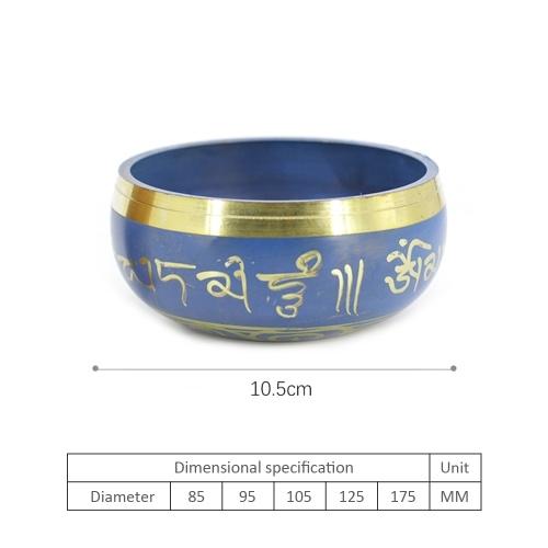 Синяя медная будда Звук Чаша Йога Тибетская поющая чаша