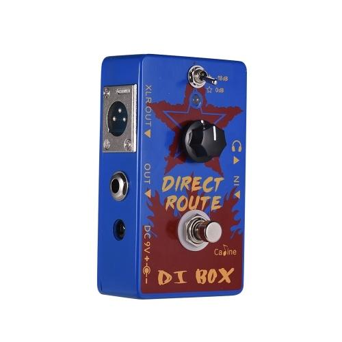 Caline CP-64 Direct Route Azul DI Box Pedais de efeitos de guitarra elétrica
