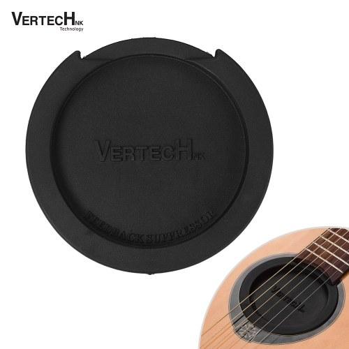 VERTECHnk SM-05 Guitarra Soundhole Cover Block Sound Hole Feedback Buffer Caucho negro para EQ Guitarras folk acústicas