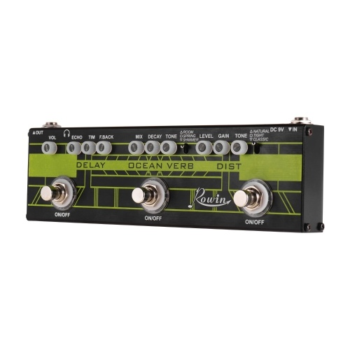 Rowin DAP-1 3 in 1 Guitar Multi Effects Pedal