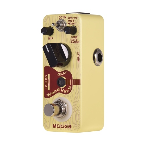 Mooer WoodVerb Acoustic Guitar Reverb Pedal Digital Reverb Pedal Reverb/Mod/Filter Modes True Bypass Micro Series Compact Pedal