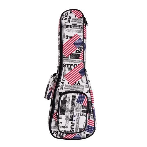 23 Inch Concert Ukulele Bag Ukelele Uke Backpack Case 8mm Padding