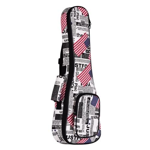 23-дюймовый концертный укулеле сумка Ukelele Uke рюкзак чехол 8 мм