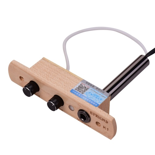 Cajon Drum Sound Hole Tonabnehmer Mikrofon-Tonabnehmersystem für Box Drum mit Tonlautstärkeregler 6,35 mm Ausgangsbuchse