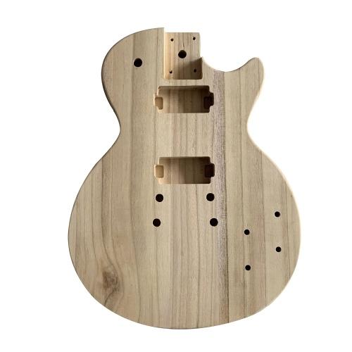 未完成のエレクトリックギターボディメープルウッドブランクギターバレル