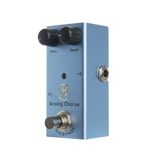 Analog Chorus Guitar Effect Pedal with Depth and Rate Knobs Mini Single Pedal