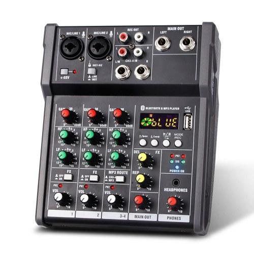 4-канальный портативный USB-микшерный пульт Цифровой аудио микшер