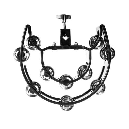 Double rangée Jingles Handbell Instruments de musique multifonctionnels pour les enfants et KTV