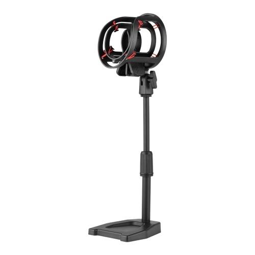 Ammoon Support de Table de Microphone réglable en hauteur avec support antichoc 26 cm / 10 pouces pour microphone à condensateur