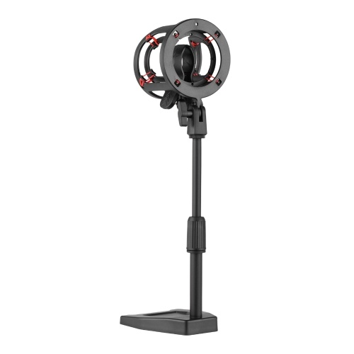 ammoon Height Adjustable Microphone Table Stand with Shock Mount 26cm/10in for Condenser Microphone