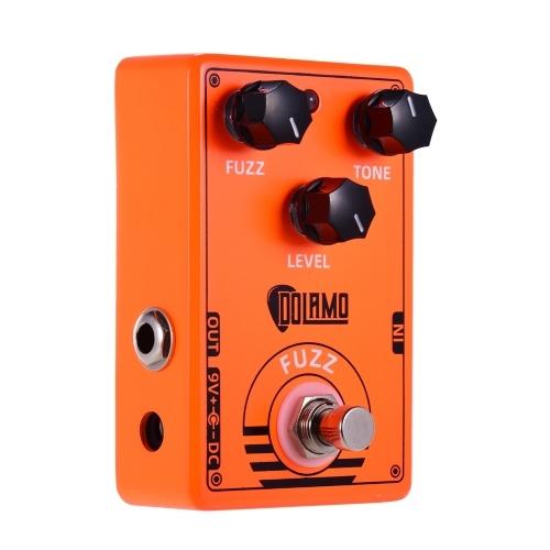 Pedal de efectos de guitarra Dolamo D-2 FUZZ con True Bypass para guitarra eléctrica