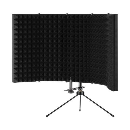 Bouclier d'isolation de microphone ammoon K501 Bouclier d'isolation de table pliable compact