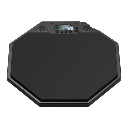 Pad d'entraînement électrique tambour muet Pad de batterie électronique avec affichage LCD numérique métronome / compte / mode tap pour les enfants débutants