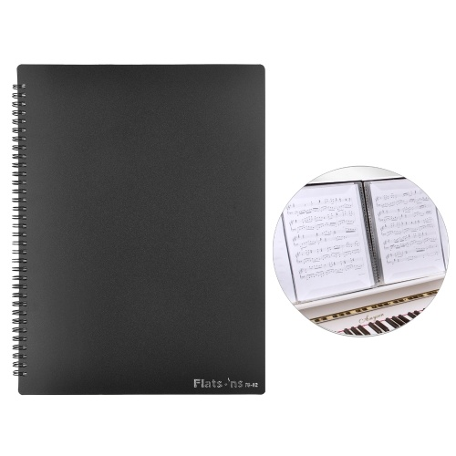 Flatsons FB-02 A4 Size Music Score Holder Paper Sheet Document File Organizer Music Paper Folder 40 Pockets for Guitar Violin Piano Players