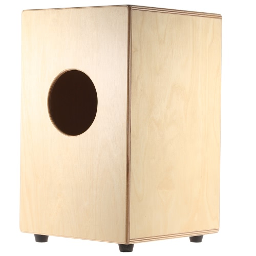 cd91911f05b8 ammoon Wooden Cajon Hand Drum Children Box Drum Persussion Instrument with  Stings Rubber Feet 23 * 24 * 37cm