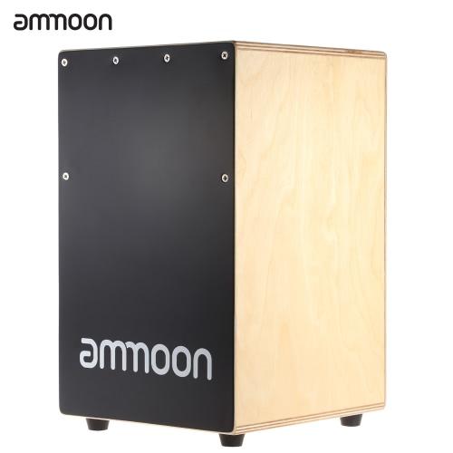 ammoon 木製カホン手ドラム子供ボックス ドラム Persussion 楽器刺されゴム足 23 * 24 * 37 cm