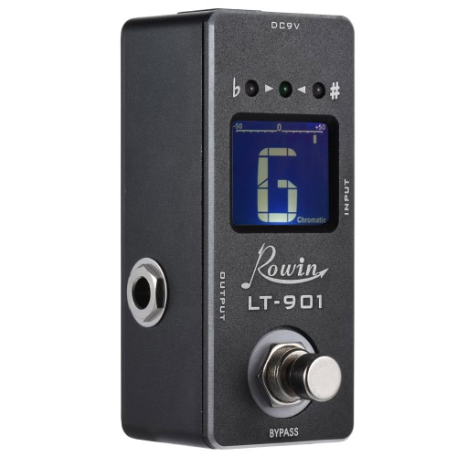 Mini Chromatyczny Tuner Gitarowy Efekt Pedału True Bypass LCD Display