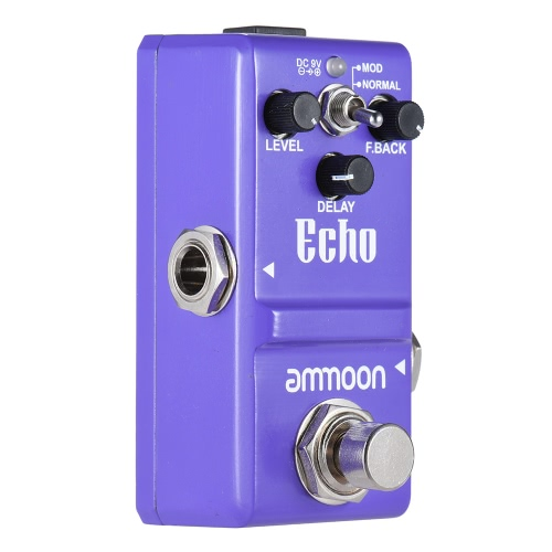 ammoon Nano Series Delay Guitar Effect Pedal True Bypass Aluminum Alloy Body