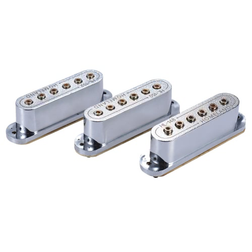 3pcs 48/50/52mm Passive Magnetic Dual-Coil Sound Hole Pickup for Fender ST Style Electric Guitar