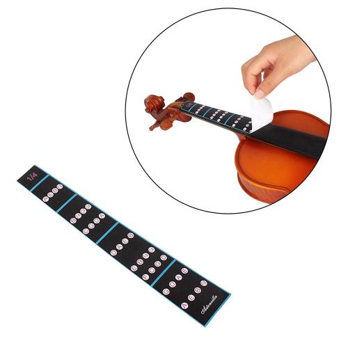 1/4バイオリンフィドル指ガイド指板ステッカーラベルイントネーションチャート初心者のためのフレットボードマーカー