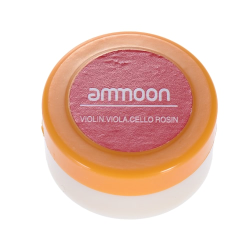 ammoon Transparent Orange Natural Rosin Cylindrical for Violin Viola Cello Light and Low Dust